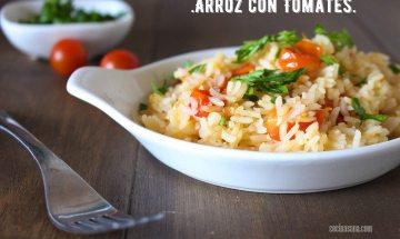 arroz con tomate cherry