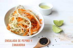 Ensalada de Pepino y Zanahoria con Chía. Fácil, Sana y Sabrosa