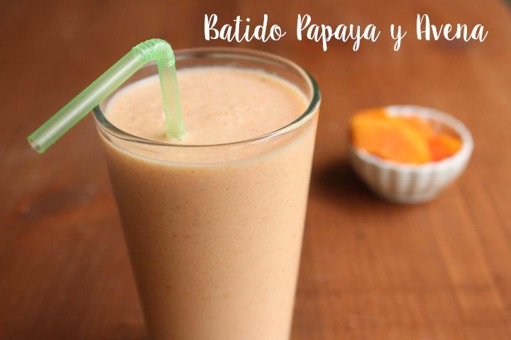 Batido de Papaya y Avena: Bebida Natural para Reducir el Colesterol