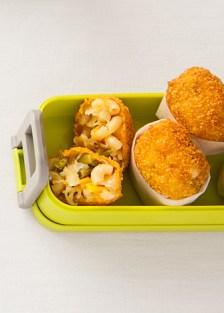 bolitas de coditos con queso y ejotes