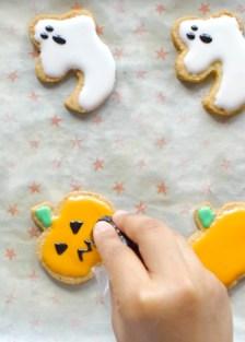 galletas de calabazas y fantasmas