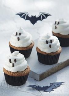 cupcakes con fantasmas