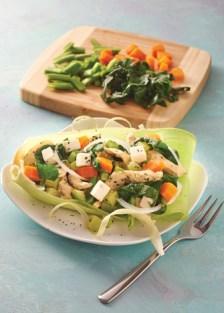 pollo con acelgas y vegetales