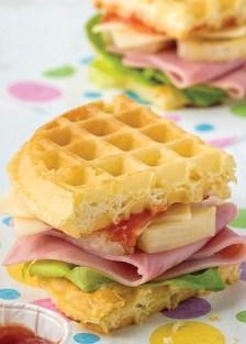 sándwiches wafleados