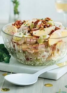 receta de ensalada de uvas y manzana
