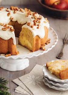 receta de rosca de manzana, queso crema y nueces