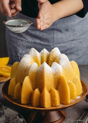 receta de rosca de naranja y vainilla