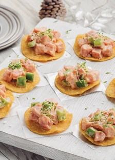 tostaditas de atún picoso