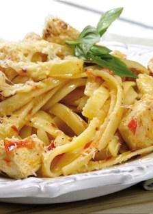 receta de pasta con pollo y tocino