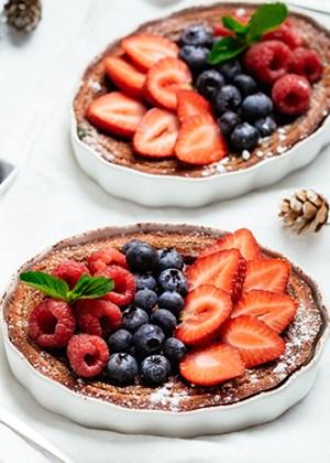 tarta de queso mascarpone y frutos rojos