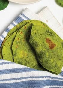 tortillas de harina con espinacas