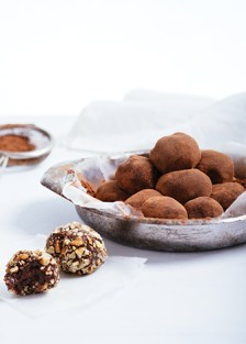trufas de chocolate y nuez