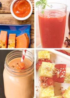 recetas con papaya para el desayuno