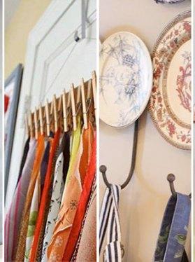 fabulosas ideas de percheros para la cocina con poco dinero