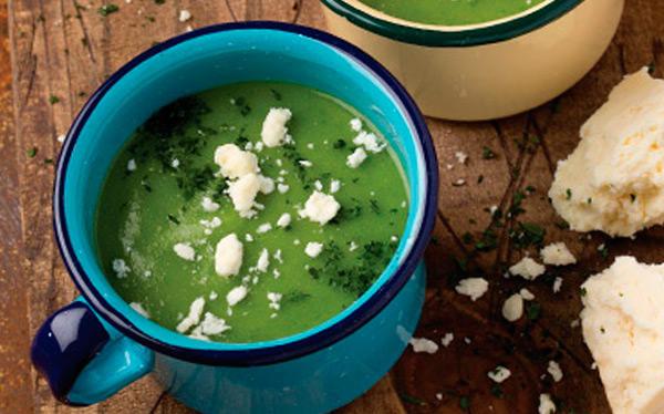 Green chileatole |  Recipe