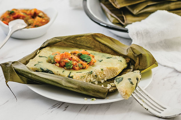 How to make Oaxacan tamales with spinach with cottage cheese |  Recipe