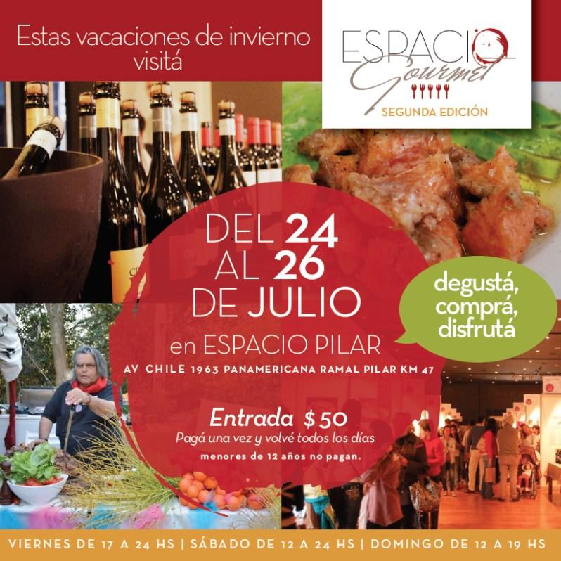 """Clase de cocina de """"cocinayletras"""" en Espacio Gourmet Pilar 26 de julio 17 horas"""