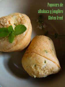 Popovers de albahaca y jengibre. Gluten free!