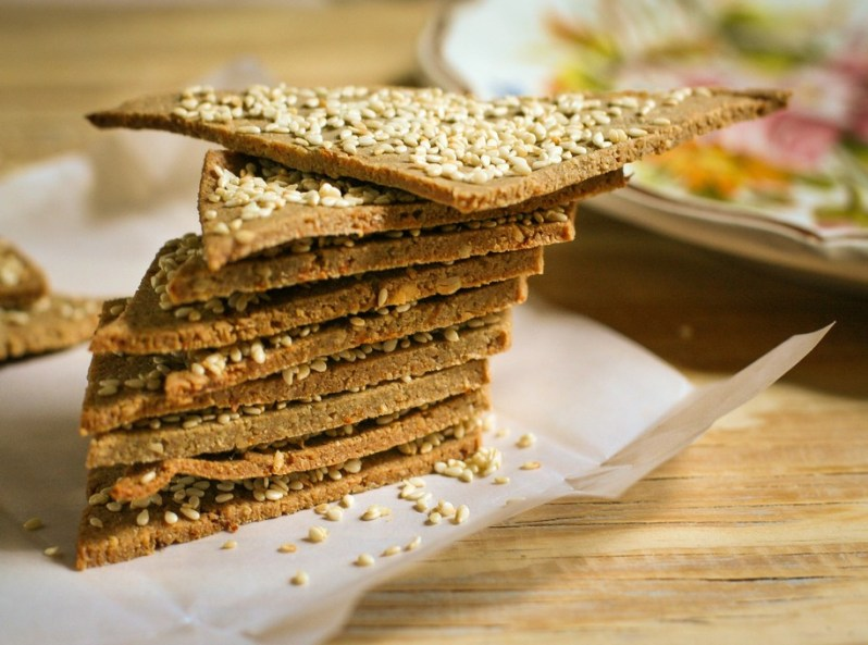 Crackers de Sésamo, Girasol & Maní. Gluten free!