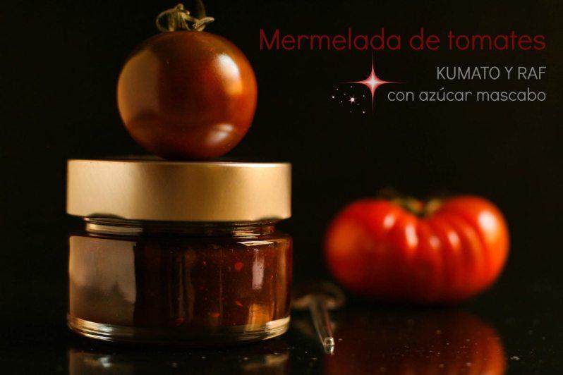 Mermelada de tomates Kumato y Raf, con azúcar mascabo