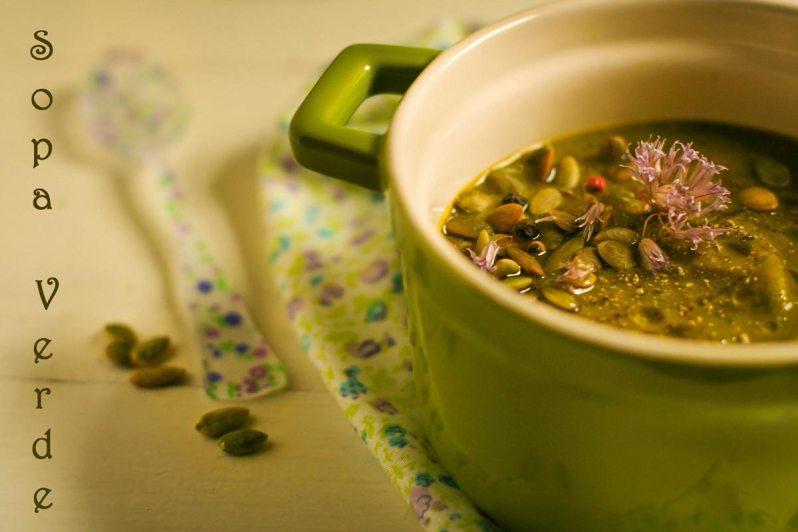 """Sopa """"verde"""". De mi mamá y muy fácil!"""