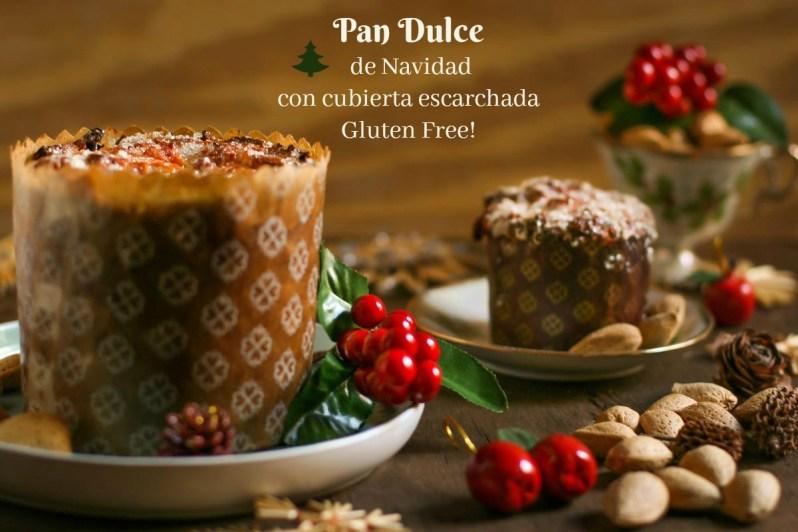 Pan Dulce de Navidad con cubierta escarchada. Gluten free!