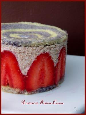 bavarois cerise fraise