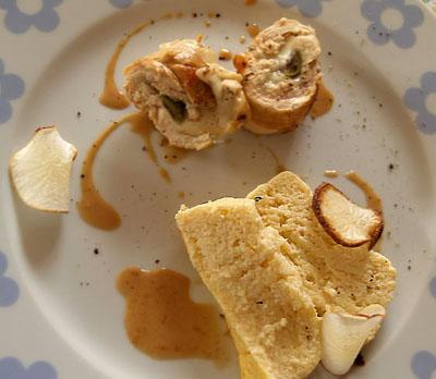 roulade de poulet, flan de navet ©cocineraloca.fr