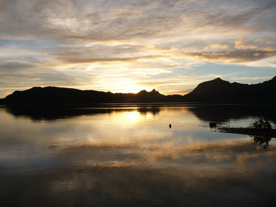 Coucher de soleil à Huahine