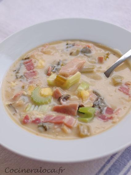 soupe au cheddar et à la bière blonde