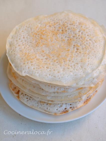 Kallappam : crêpes à la farine de riz et noix de coco