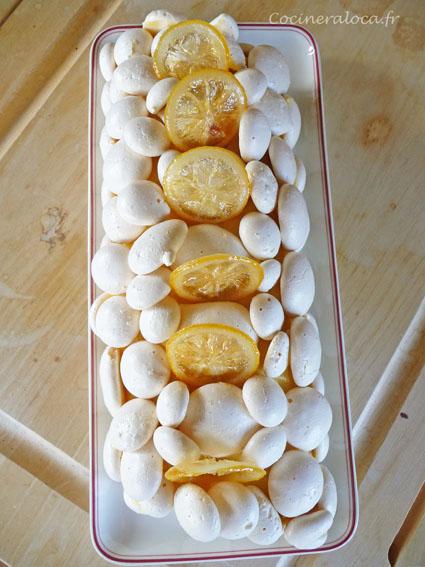 bûche meringue citron de haut