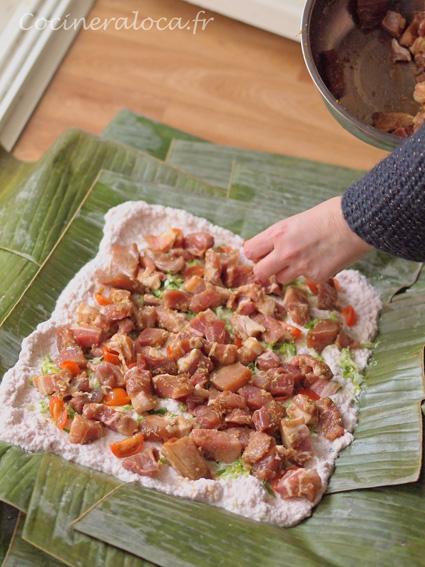 Lap lap du Vanuatu : couche de viande marinée ©cocineraloca.fr