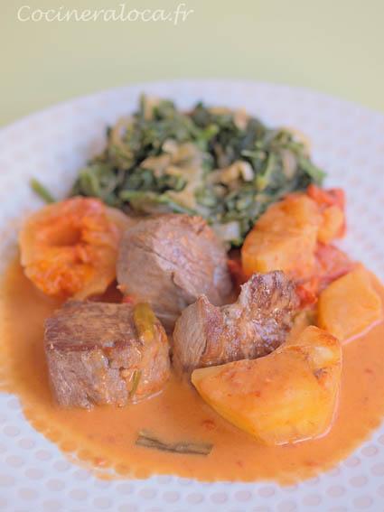 Boeuf au manioc et brèdes chouchou ©cocineraloca.fr