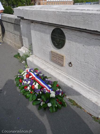 Plaque commémorative / Hommage à la Nueve ©cocineraloca.fr