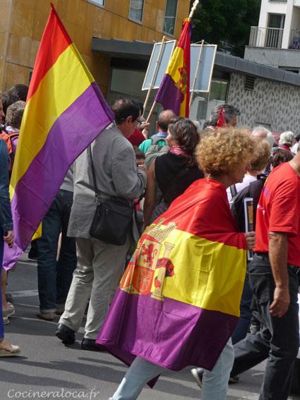 drapeau des républicains espagnols / Hommage à la Nueve ©cocineraloca.fr