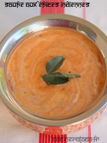 soupe à la tomate et aux épices indiennes ©cocineraloca.fr