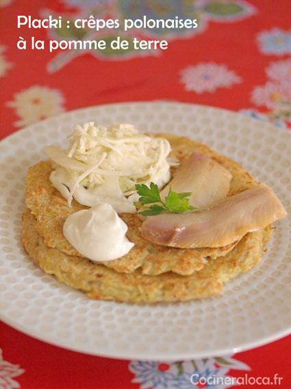 placki ou platski salés ©cocineraloca.fr