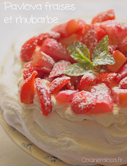 pavlova fraises et rhubarbe ©cocineraloca.fr