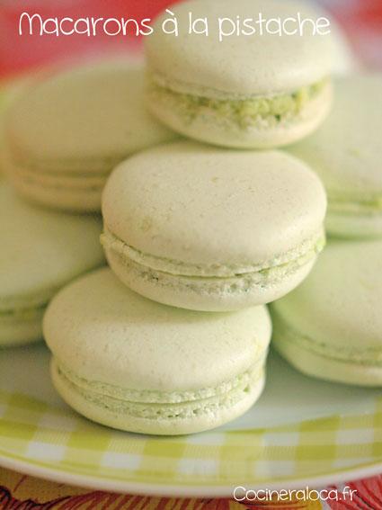Macarons à la pistache ©cocineraloca.fr