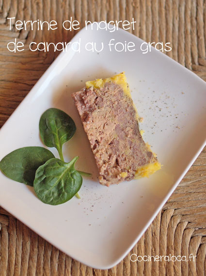 terrine de magret de canard au foie gras la cocinera loca. Black Bedroom Furniture Sets. Home Design Ideas
