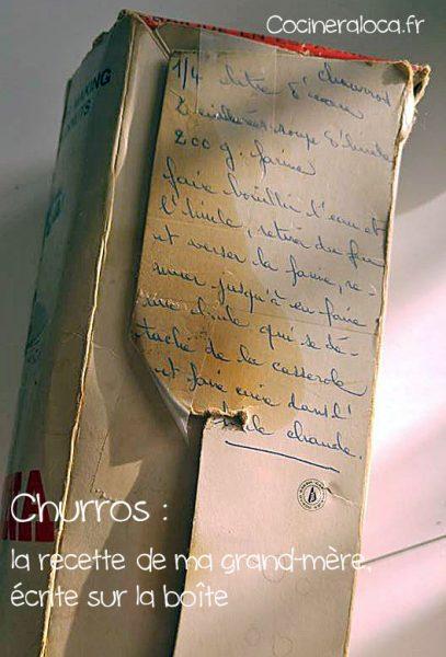 churros : recette de ma grand-mère ©cocineraloca.fr