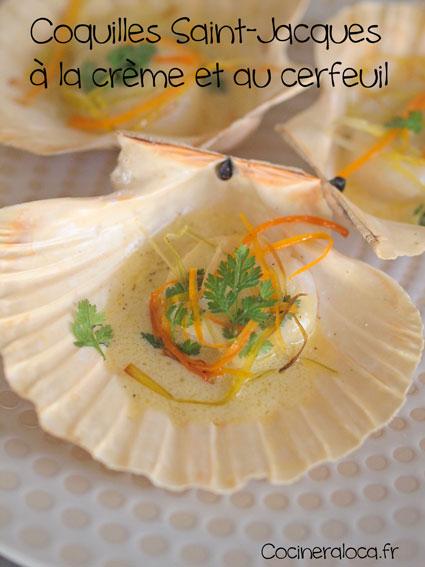 Coquilles Saint-Jacques à la crème et au cerfeuil 2 ©cocineraloca.fr