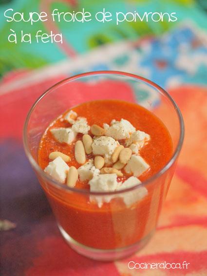 Soupe froide de poivrons à la feta ©cocineraloca.fr