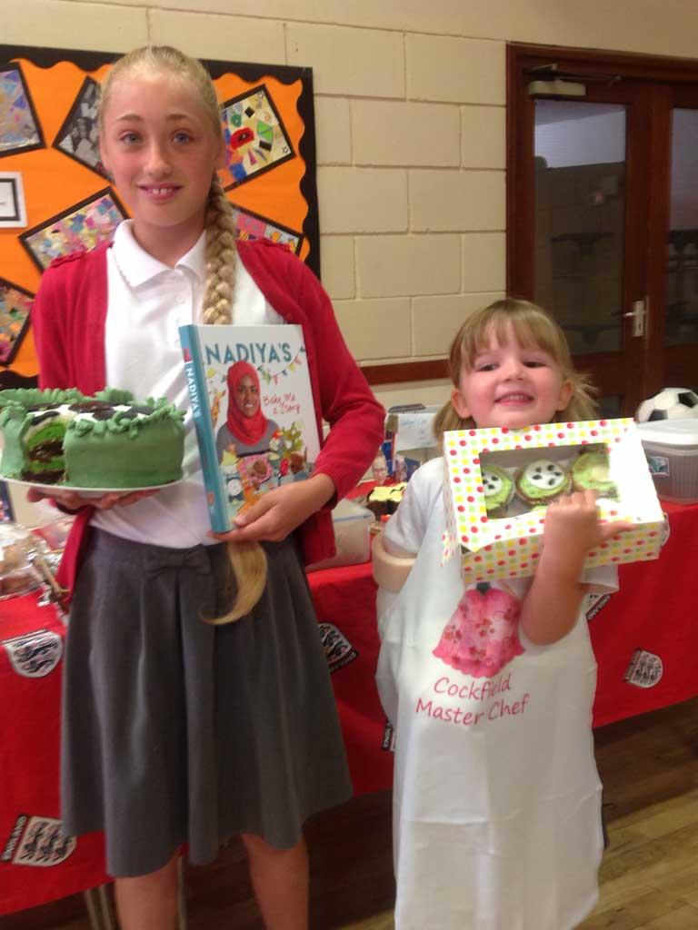 World Cup Bake Off Winners - Alexa & Tallia