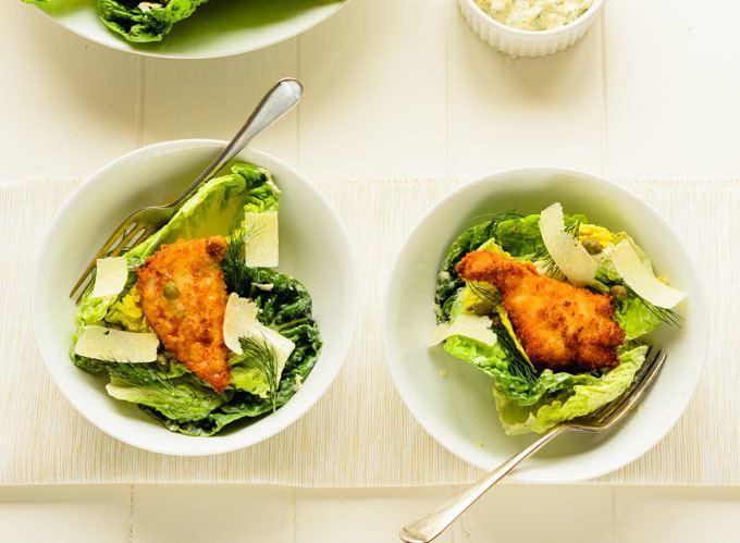 fish caesar salad