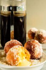 mango and coconut doughnuts