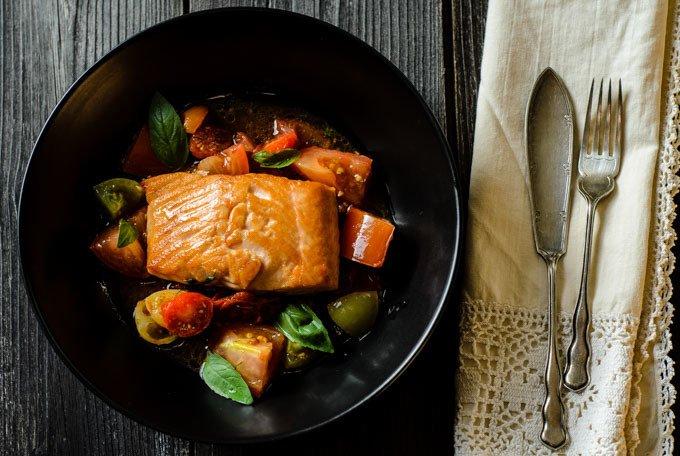 Salmon Sauce Vierge