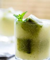 how to make chilled melon soup with mijito ice