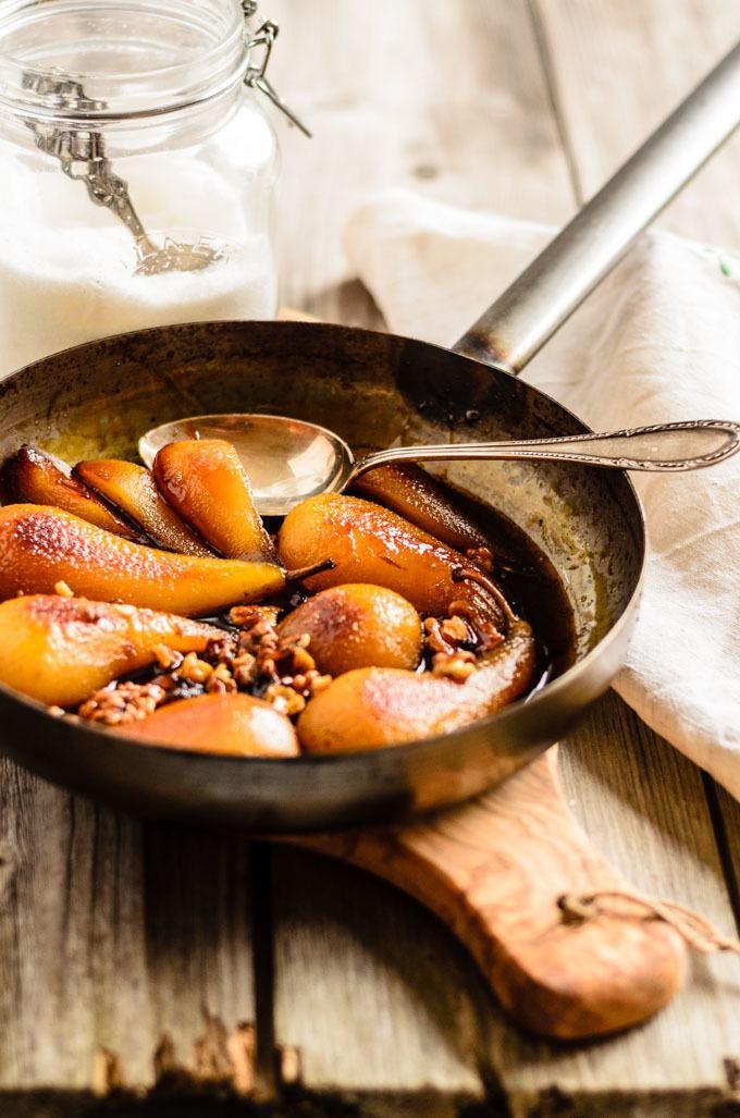 roasted pears